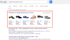 Investissements auprès de Google Shopping