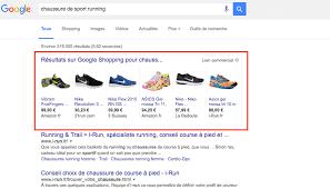 Investissements auprès de Google Shopping